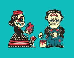 Dia De Los Muertos ~ Frida Kahlo, Diego Rivera