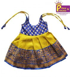 Frock @ www.princenprincess.in . These frock are cute and nice outfit for kids cradle and naming ceremony. Lining cloth inside to protect baby skin.