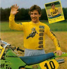 Georges Jobe 5X wold champion 250 cc. 1980 y 83 Suzuki. 500 cc. 1987-91-92 Honda