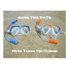 Funny Save the Date Card Beach Wedding