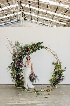 Floral circle arch wedding backdrop - would be lovely at the barn as a ceremony backdrop 💕 boho wedding dress/wedding quizes/wedding/rustic wedding/outdoor wedding dress/ Wedding Bows, Wedding Bride, Dream Wedding, Wedding Day, Arch Wedding, Trendy Wedding, Backdrop Wedding, Decor Wedding, Wedding Church