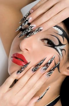 Wonderful Crystal Nail Art 2013 For Cute Girl - http://naildesignguide.com/wonderful-crystal-nail-art-2013-for-cute-girl/?Pinterest