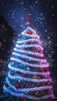 Christmas Tree Background - iPhone Wallpapers