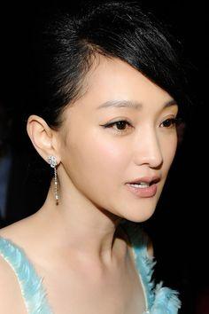2012 Cannes Film Festival: Zhou Xun wore Chanel earrings #CannesFilmFestival #ZhouXun #Chanel