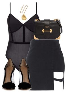 """""""Untitled #5231"""" by theeuropeancloset on Polyvore featuring Miss Selfridge, Gianvito Rossi, Prada and Alighieri"""