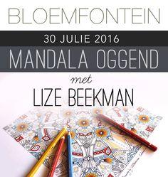 MANDALA OGGEND met Lize Beekman in BLOEMFONTEIN South African Artists, Mandala Art