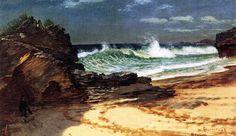 Beach at Nassau   by Albert Bierstadt
