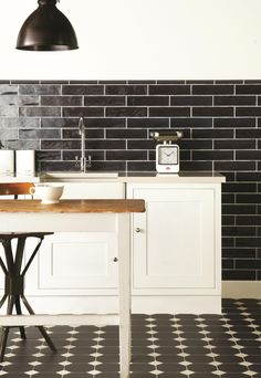 Monochrome is always popular, so Victorian Floor Tiles can add a dramatic edge with the use of pattern.