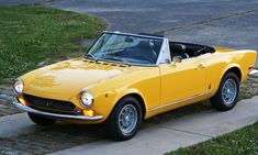 """1970 Fiat Spider with """"Campi"""" wheels."""