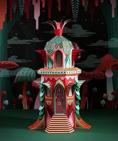 zim & zou crafts a paper woodland wonderland for Hermès windows in dubai