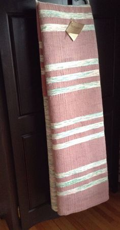 Your place to buy and sell all things handmade Raspberry Color, Weaving Projects, Linen Curtains, Striped Linen, Artisanal, Loom, Hand Weaving, My Etsy Shop, Creations