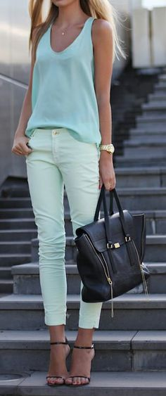 mint colorblock