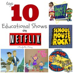 Tot School Tuesday: Top 10 Educational Shows on Netflix - Mine for the Making Here is a list of the Top 10 Educational Shows on Netflix, shared by a former elementary school teacher. Magic School Bus, Tot School, School Teacher, Teacher Stuff, Middle School, Elementary Education, Kids Education, Texas Education, Teacher Education