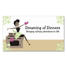 African American retro housewife cooking baking Business Card Template. This is a fully customizable business card and available on several paper types for your needs. You can upload your own image or use the image as is. Just click this template to get started!