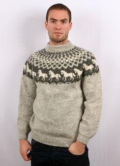 Fair Isle Knitting Patterns, Fair Isle Pattern, Men's Knits, Icelandic Sweaters, Men's Sweaters, Luigi, Sweater Cardigan, Knitwear, Knit Crochet
