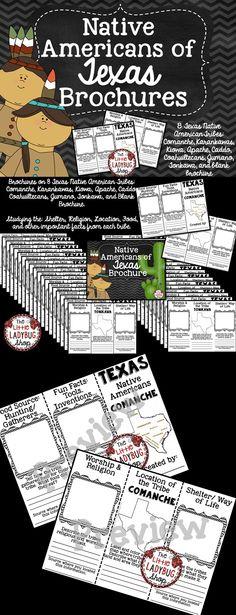 Native Americans of Texas | Native Americans of Texas | Native Americans Brochure   Native Americans of Texas 8 Brochures on the following Tribes Including:  ★Comanche ★Karankawas ★Kiowa ★Apache ★Caddo ★Coahuiltecans ★Jumano ★Tonkawa
