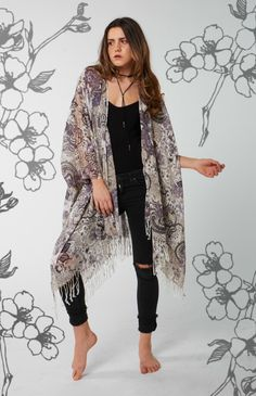 Preorder Spring Collection Light weight cotton blend Handmade - Very delicate. features a brilliant colour with white fringe One Size, very. Guns And Roses, Spring Collection, Summer 2016, Boho Fashion, Kimono Top, Delicate, Bohemian, Mood, Colour