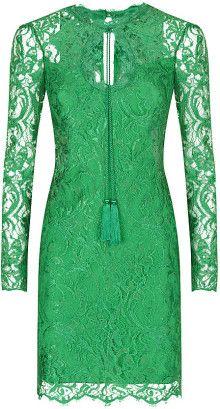 Emilio Pucci green lace dress