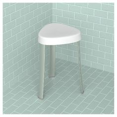 HealthSmart Compact Shower Stool with Germ Protection - 522-9801 ...