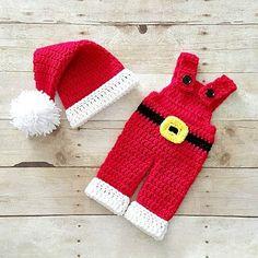 Crochet Baby Santa Claus Hat Beanie Infant Newborn Handmade Baby Shower Gift…
