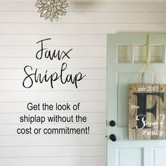 Get the shiplap look without the cost or commitment with this removable peel & stick wallpaper! Midwestern Mama Source by Peel And Stick Shiplap, Peel And Stick Wood, Blue Accent Walls, Accent Wall Bedroom, Camping Snacks, Camping Gear, Diy Wand, Shiplap Wall Paper, Faux Walls