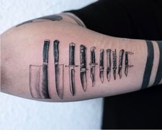 Knife collection tattoo by OOZY