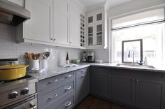white uppers, grey lowers | Meredith Heron Design