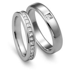 엔조 2PR236R & 2PR237R 백금커플링 #백금커플링 #백금반지 #쥬얼리 #명품반지 #커플링 #다이아몬드 #프린세스 #핸드메이드주얼리