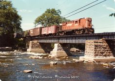 Location: Carleton Place, ON Subject: Diesel locomotiveTrain, freight Railway Name: CANADIAN PACIFIC RAILWAY CO. Date: Caption: On a south bound freight train about to cross over the Mississippi at Carleton Place. Carleton Place, Ottawa Valley, Canadian Pacific Railway, Abandoned Buildings, Bridges, Mississippi, Ontario, Scenery, Journey