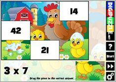 Easter Multiplication Puzzles | Digipuzzle.net Easter Puzzles, Easter Games, Multiplication, Yoshi, Kids, Fictional Characters, Young Children, Boys, Children