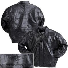 C6 Corvette Black Embossed Lambskin Jacket