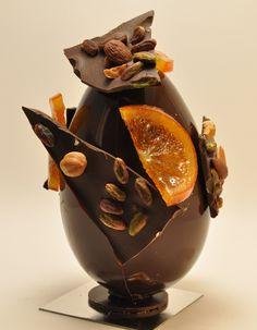 Dimanche à Paris  70% de chocolat, fruits secs, orange confites, pistaches!!!mmmmm!!