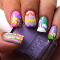 Easter mani.   #manicure  @kim_ber_ly_