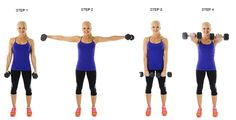 dumbbell front lateral raises