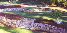 Tier Landscaping Dream Home Rock Retaining Wall Front