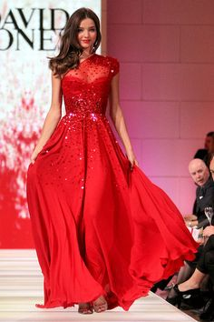 Red Sequined Maxi #Dress