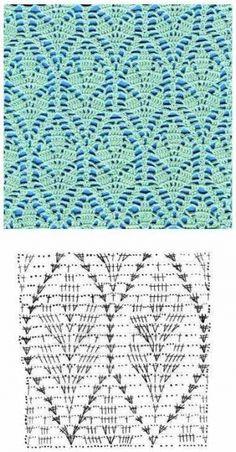 Vários padrões de crochê
