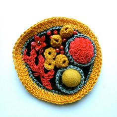 CORAL - Limited Edition Crochet Brooch With Beads And Freeform Embroidery. £22.50, via Etsy.