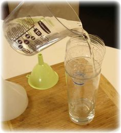By using old empty plastic water bottles, you will never need to buy small plastic funnels again!