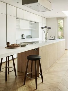 Herringbone floors, modern lines