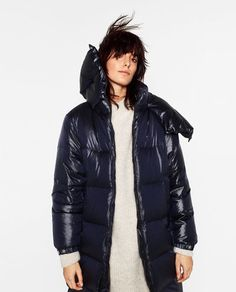 Image 2 of SHORT SHINY QUILTED JACKET from Zara | My Style ... : down quilted coats - Adamdwight.com