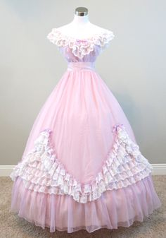 "Lavender Chiffon Gown (waist - 26"") — Civil War Ball Gowns & Southern Belle Dresses"