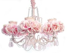 Charmant 5 Arm Light Pink Little Girls Chandelier Love This One As Well For Carineu0027s  Room