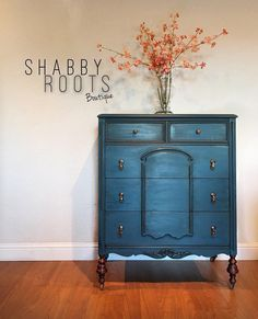 Superieur SOLD  Gorgeous Antique Dresser In Jewel Toned Bold Bohemian Blue Turquoise   Boho Chic Modern