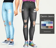 [ DENIM JEANS ]• Base Game Compatible • 15 swatches • Custom Thumbnail • Hope you like it! :) • Tag me if you use it I would love to see your sims! DOWNLOAD HERE • TERMS OF USE! • Also my special...