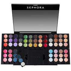 SEPHORA COLLECTION Smoky Studio 2 An expansive palette featuring 16 smoky eye trios and 15 perfectly coordinated lipsticks for unlimited glamour.