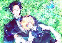 Black Butler (Kuroshitsuji) - Alois Trancy x Claude Faustus - A nap by kujino