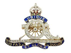 Diamond and Enamel Brooch of the Royal Artillery Available at Nigel Norman Christmas Gift Inspiration, Inspirational Gifts, Norman, Christmas Gifts, Enamel, Clock, Antiques, Diamond, Vintage