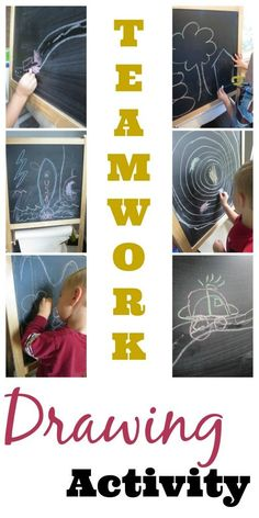 Teamwork drawing activity to encourage reluctant artists to dream big! Great for toddlers or preschoolers who resist writing and coloring.