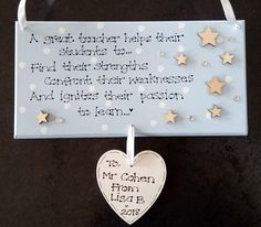 Personalised A Great Teacher Helps Students To Thank You Plaque, D4, College Student, Student Nurse, Leaving Gift, Graduation, Custom Sign